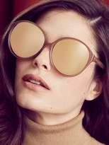Linda Farrow Luxe Women's 18K Rose Gold Oversized Round Frame