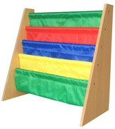 EWEI'S HomeWares 23x25x11-Inch Lagre Kids Toy Sling Book Rack Display Shelf Organizer Children Bookshelf, Primary Colors