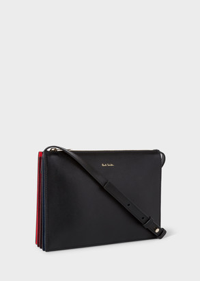 Paul Smith Women's Black And Red 'Concertina' Cross-Body Bag
