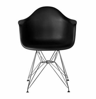 Joseph Allen Ethan Arm Chair Color: Black