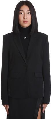 Off-White Basic Taicore Blazer In Black Wool