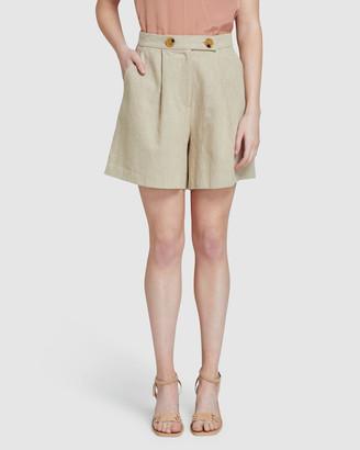 Oxford Sasha Linen Shorts