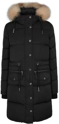 Pajar Chrissy Black Fur-trimmed Shell Coat