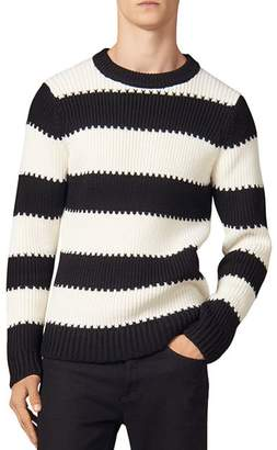 Sandro Andy Wide-Striped Crewneck Sweater