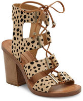 Dolce Vita Witley Calf Fur Ghillie Lace Sandals