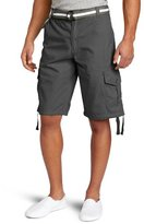 Southpole Men's Big-Tall Belted Ripstop Basic Cargo Short 13.5-Inch Length