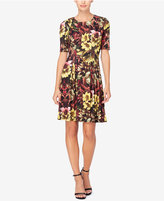 Catherine Malandrino Catherine Printed Pleated Fit & Flare Dress