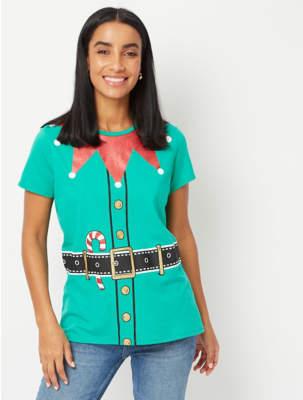 George Green Elf Short Sleeve Christmas T-Shirt