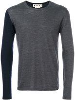 Marni two tone crew neck sweater - men - Wool - 48