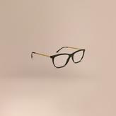 Burberry Gabardine Collection Cat-Eye Optical Frames