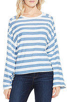 Vince Camuto Two by Long Sleeve Wide Stripe Lydia Tee