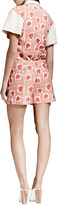 Stella McCartney Heart & Lip-Print Blouse, Medium Pink