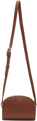 A.P.C. Brown Mini Demi-Lune Bag