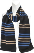 Sonia Rykiel STRIPED WOOL AND LUREX SCARF 30X170