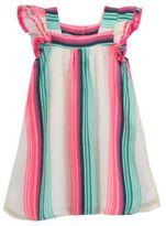 Rare Editions Square-Neck Short Sleeve Dress