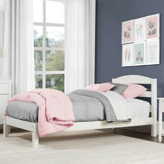 Viv + Rae Maddox Twin Platform Bed Bed Frame Color: White