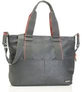 Storksak Infant 'Eden' Faux Leather Diaper Bag - Grey