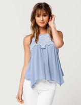 Blu Pepper Embroidered Womens Tank
