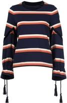 Sacai Striped Drawstring Sweater