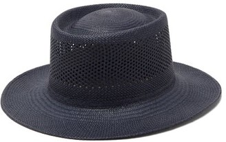 Greenpacha Cuba Pointelle Toquilla-straw Hat - Womens - Navy