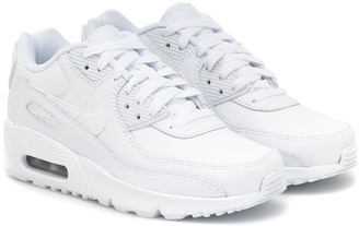 Nike Kids Air Max 90 leather sneakers