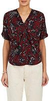 Etoile Isabel Marant Women's Floral Cotton Blouse-Burgundy