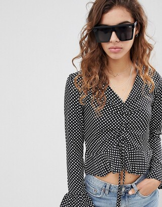 Quay Hindsight square sunglasses in black