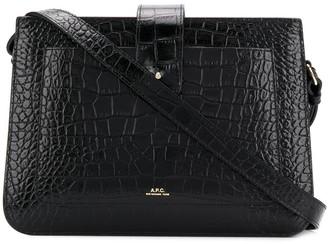 A.P.C. Crocodile-Embossed Crossbody Bag