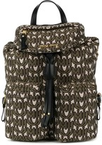 Miu Miu monogram intarsia backpack