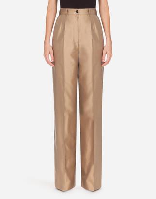 Dolce & Gabbana High-Waisted Pants In Shantung