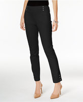 JM Collection Embellished Pull-On Ankle Pants, Only at Macy's