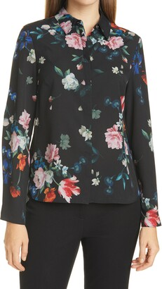Ted Baker Ebonny Floral Long Sleeve Button-Up Shirt