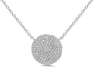 Ron Hami 14K White Gold Pave Round Diamond Necklace - 0.37 ctw