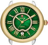 Michele 16mm Serein Green Diamond Watch Head, Two-Tone