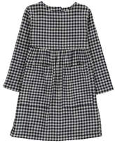 Nui Suze Organic Cotton Gingham Flannel Dress