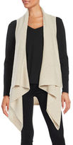 Lord & Taylor Cashmere Sleeveless Flyaway Cardigan