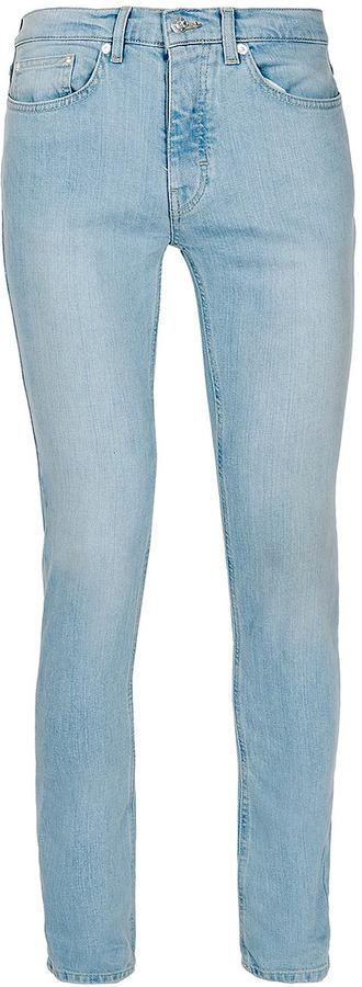 Topman Super Bleach Wash Stretch Skinny Jeans