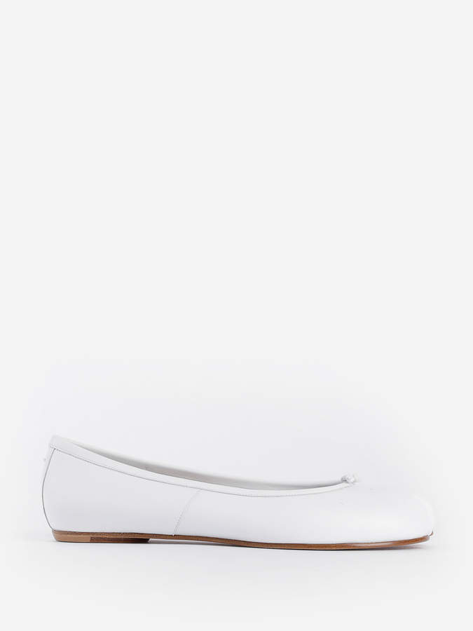 Maison Margiela WOMEN'S WHITE BALLERINA TABI SHOES