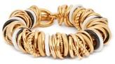 Balenciaga Ring-embellished Bracelet - Womens - Gold Multi