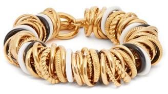 Balenciaga Ring-embellished Bracelet - Gold Multi