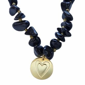 Smilla Brav Onyx Gemstone Heart Vermeil Necklace