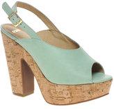 ASOS HEPBURN Leather Slingback Platform High Sandals