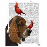 Asstd National Brand Basset Hound and Birds Canvas Wall Art