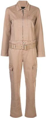 RtA cargo denim jumpsuit