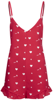 Wildfox Couture Women's Ruffle Romper Cupid Hearts