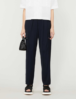 Claudie Pierlot High-rise pocketed woven trousers