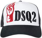 DSQUARED2 Embroidery Canvas & Mesh Trucker Hat