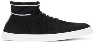 Fendi Black Knit High-Top Sneakers