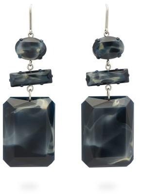 Isabel Marant Marbled Drop Earrings - Womens - Black