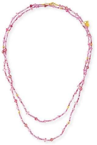 """Gurhan Pink Sapphire, Topaz & Tourmaline Beaded Necklace, 40"""""""